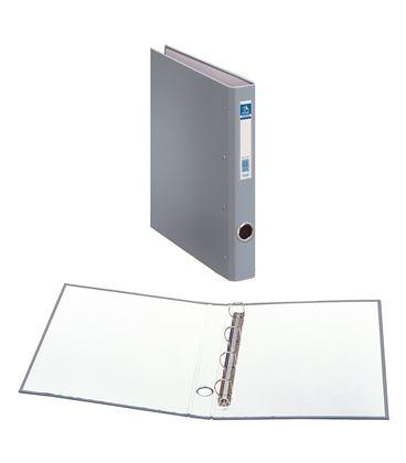 Carpeta 4 anillas folio 25mm carton folio. ofi. gris dohe 09670 - 09670
