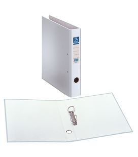 Carpeta 2 anillas fº 40mm carton fo. ofi. blan. dohe 09434 - 09434