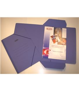 Carpeta cuarto gomas y solapas carton azul saro 1012