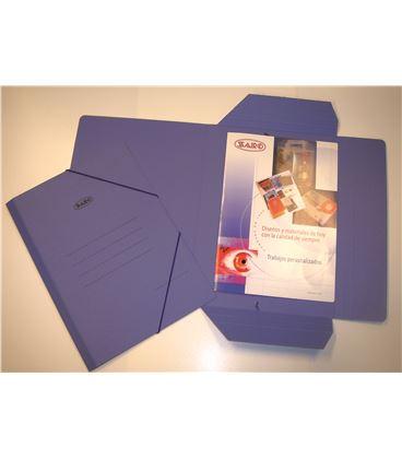 Carpeta cuarto gomas y solapas carton azul saro 1012 - 111271