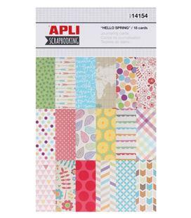 Tarjetas decoradas surtidas 18 diseños hello spring apli 14154 - 14154