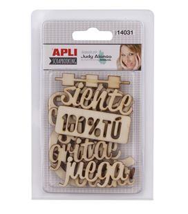 Formas y letras de madera judy alonso apli 14031