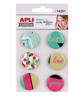 Botones adhesivos judy alonso 6uni. apli 14201