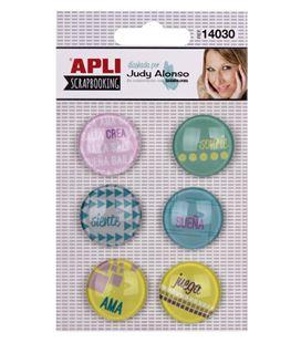 Botones adhesivos judy alonso 12uni. apli 14030