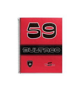 Cuaderno a4 5x5 120h microperfoliorado rojo tralla s bultaco miquelrius 44076