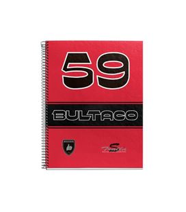 Cuaderno a4 5x5 120h microperforado rojo tralla s bultaco miquelrius 44076
