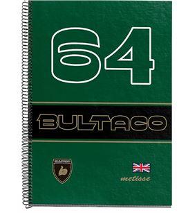 Cuaderno a4 5x5 120h microperforado verde metisse bultaco miquelrius 44077