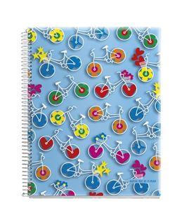 Cuaderno a7 5x5 120h microperforado pp bicicletas agatha miquelrius 47739