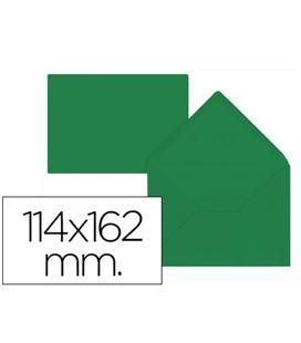 Sobre 114x162 80grs verde acebo 15ud liderpapel 54486 - 54486