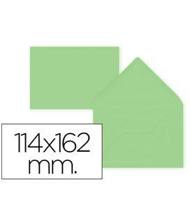 Sobre 114x162 80grs verde claro 15ud liderpapel 54484
