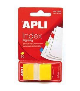 Nota adhesiva posit banderita 25x45 zigzag 50h amarillo apli 12484