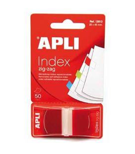 Nota adhesiva posit banderita 25x45 zigzag 50h rojo apli 12613