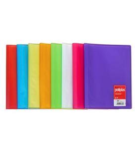 Carpeta 40 fundas folio azul traslucido poliplas grafolioplas 01441230