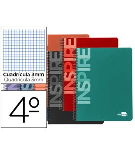 Cuaderno 4º 3x3 80h 60grs tapa dura color liderpapel 32870 - 32870