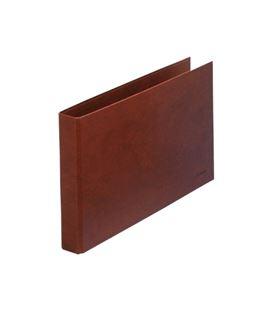 Carpeta 2 anillas folio apaisado 40mm cuero foliorra. dohe 09559