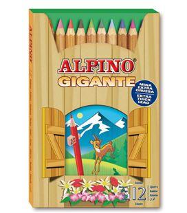 Pintura madera gigante 12u. alpino al000680 006800 - AL000680_LAPICES GIGANTE 12