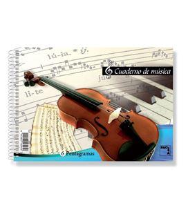 Cuaderno cuarto musica 6 pentagramas 20h pacsa 18803