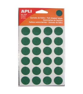 Gomet fieltro circulo grande 20mm verde 1h apli 12448 - 12448