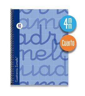 Cuaderno cuarto 4mm 80h 70g t.dura azul lamela 7cte004a