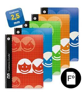 Cuaderno espiral fº 2,5mm 80h 70g lamela 07f002 - 07F002