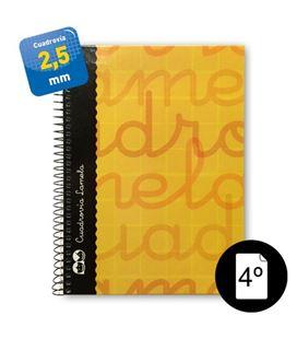 Cuaderno cuarto 2,5mm 80h 70g tapa dura naranja lamela 7cte002n