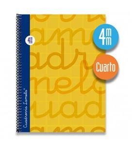 Cuaderno cuarto 4mm 80h 70g t.dura naranja lamela 7cte004n