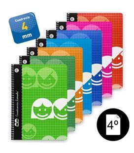 Cuaderno espiral 4º 4mm 40h 70g surtido lamela 07004 - 07004