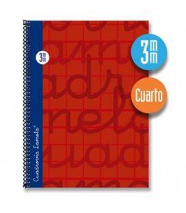 Cuaderno 4º 3mm 80h 70g tapa dura rojo lamela 7cte003r 797070 - 7CTE003R