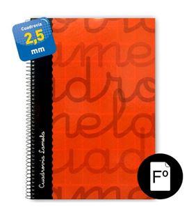 Cuaderno folio 2,5mm 80h 70g tapa dura rojo lamela 7fte002r 537348