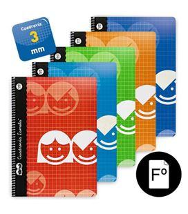 Cuaderno espiral fº 3mm 80h 70g lamela 07f003 102409 - 07F003