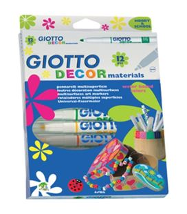 Rotulador decor materials 12u fila-giotto 453400 - 453400