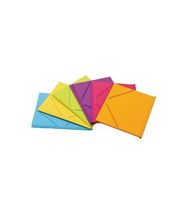 Carpeta goma solapa fº pvc neon fun color iberplas 343fc90 - 343FC90-1