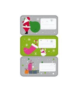 Etiqueta adhesiva regalo navidad 3h. apli - 11600