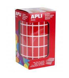 Gomet rollo rectangulos grandes 20x10mm rojos apli 04885 - 04885