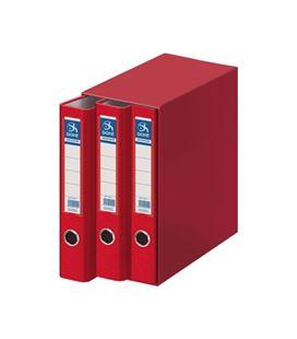 Modulo 3 archivador palanca folio 70mm rojo archico. dohe 91006 - 91006