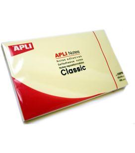Nota adhesiva posit 125x75 100h amarillo apli 10976
