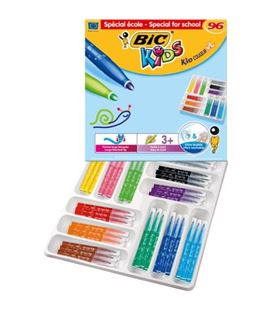 Rotulador colores kid xl pack 96 und. (12 colores) kids bic 669205 - 669205