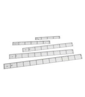 Regla 30cm transparente 211/30 faibo 41130 101304