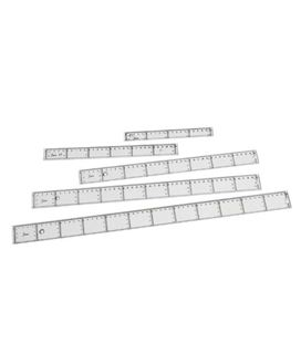 Regla 30cm transparente 211/30 faibo 41130 101304 - REGLAS PLASTICO