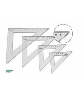 Escuadra transparente 35cm faibo 21235