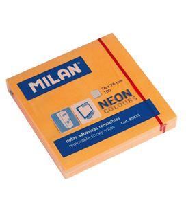Nota adhesiva posit 75x75 80h naranja brillante milan 85435