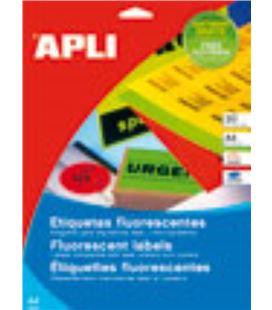 Etiqueta fluorescente a4 20h 210mmx297mm 20u rojo apli 02880