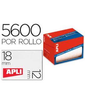 Etiqueta rollo 12mmx18mm blanca 5600u apli 1679 - 01679