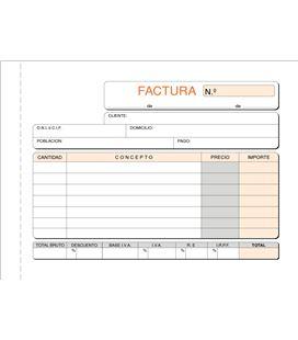 Talonario factura 8º apaisado 50h original+copia loan t-67 620674 - T67