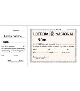 Talonario loteria 1/3 apaisado 100h original sin copia loan t-15 - T15