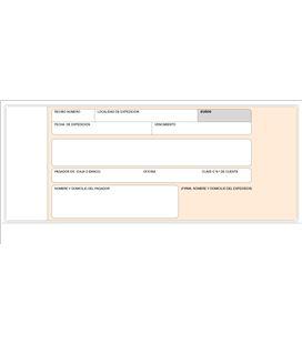 Talonario recibo banco 207x109mm 100h original sin copia loan t-19 - T19