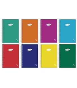 Cuaderno espiral 8º 4x4 80h 60grs tapa color serie pacsa 16433 - 16433
