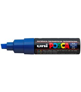 Rotulador permanente 8mm azul pc-8k posca uni 916469 - PC8K AZUL
