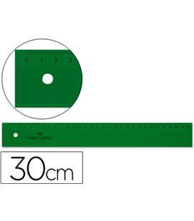 Regla 30cms verde faber castell 813