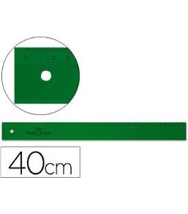 Regla 40cms verde faber castell 814